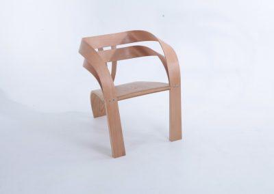 chair, steam bent