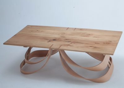 table, steam bent