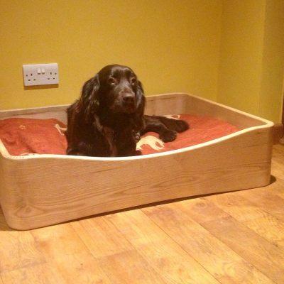 dog bed, solid wood dog bed