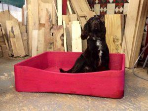 dog bed, solid wood dog bed, bespoke dog bed