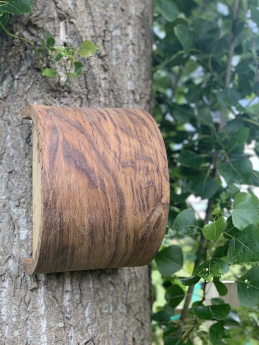 Kerfed Oak Bird Box